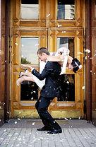 Playful Wedding Couple