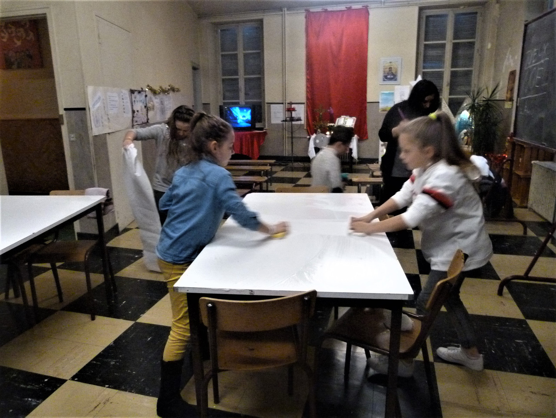 Nettoyage des tables