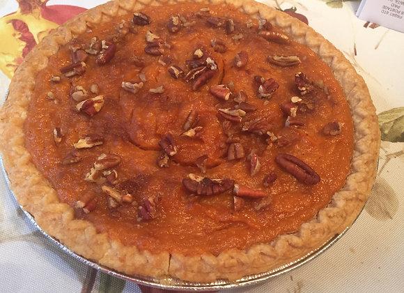 Vegan Sweet Potato Pie w/ Pecans