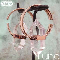 Brass and quartz alchemy earweights