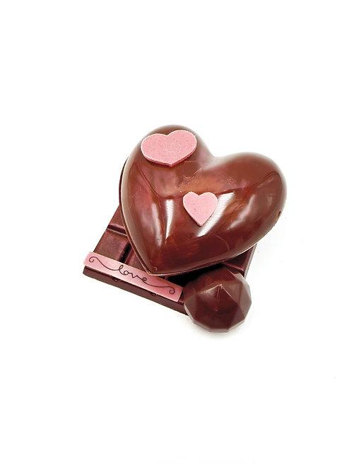 Coeur chocolat garni