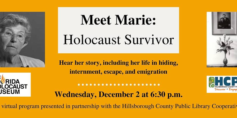 Meet Marie Silverman: Holocaust Survivor - Virtual Program