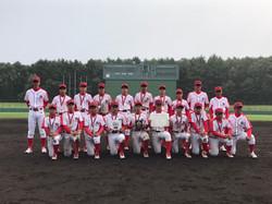 第40回記念 全道中学生軟式野球大会 準優勝