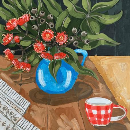 A cup of tea in the garden