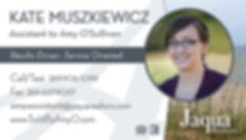 Kate Muszkiewicz business card