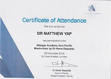 AA Masterclass London Dr Herve Raspaldo