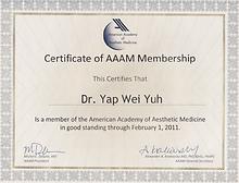 American Academy of Aesthetic Medicine M