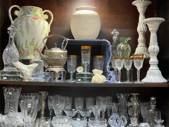 Crystal, Stemware, Pottery & More