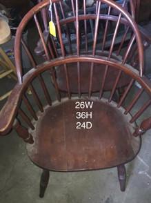 Antique wooden Windsor armchair pair 25w