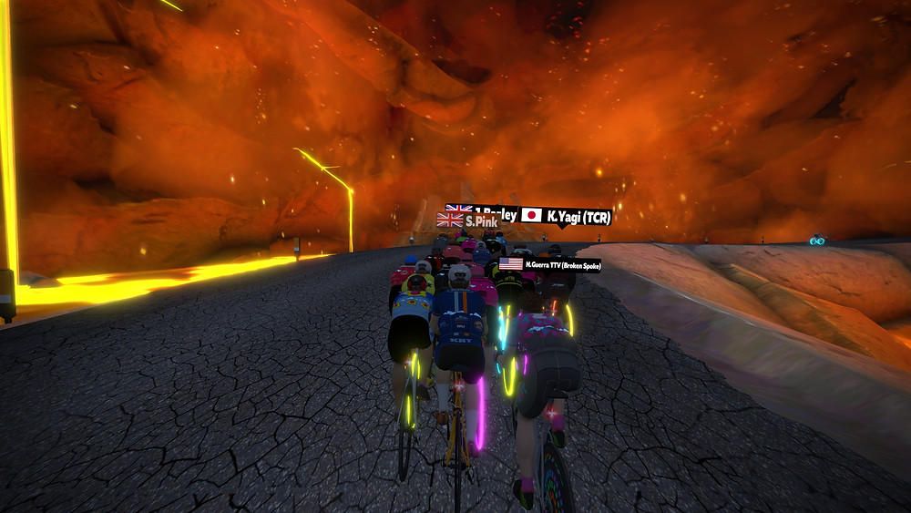 ZRL, KRT, Whole lotta lava ZRL round 7, Zwift racing, Volcano KOM, Volcano circuit