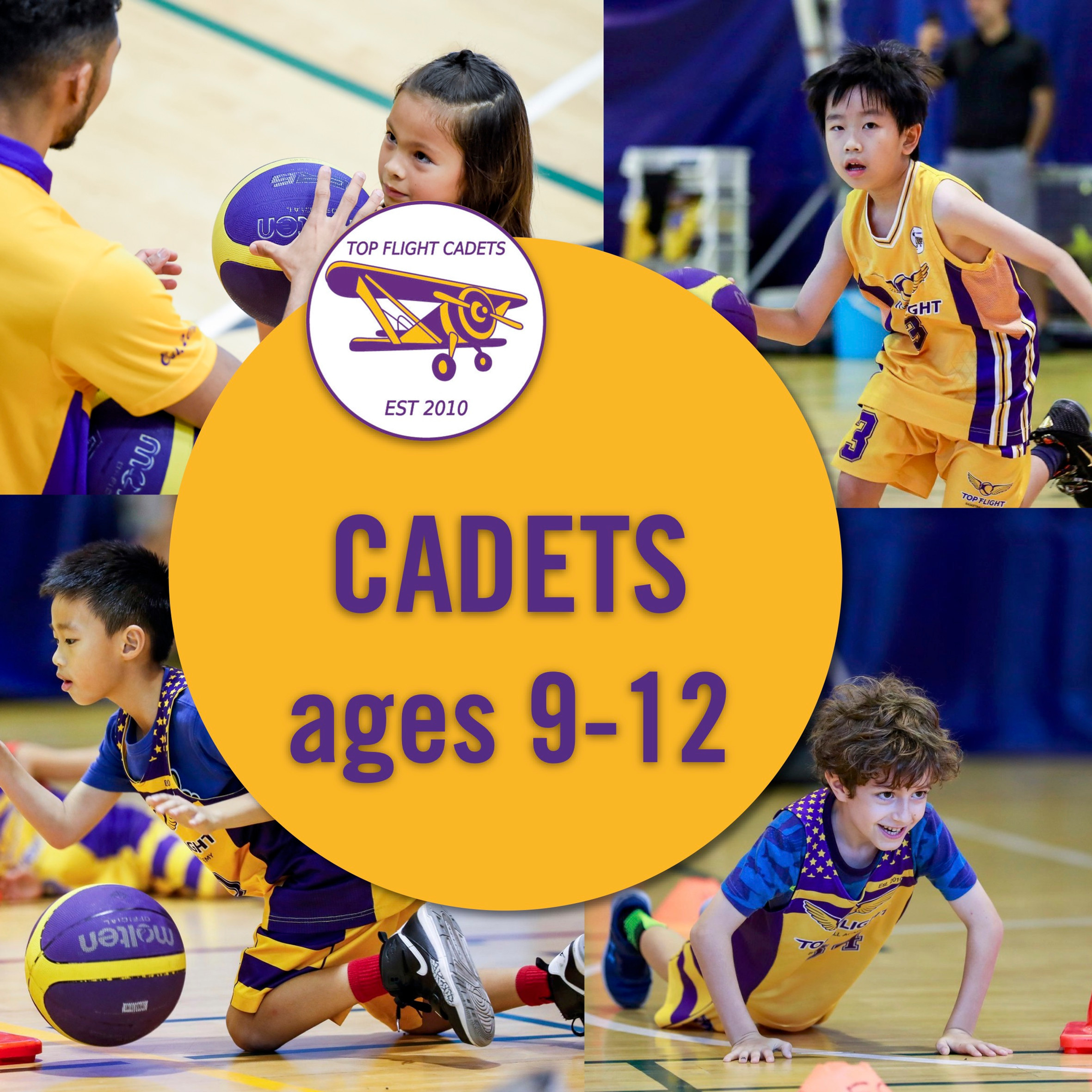 Cadets ages 9-12/09:00-10:30
