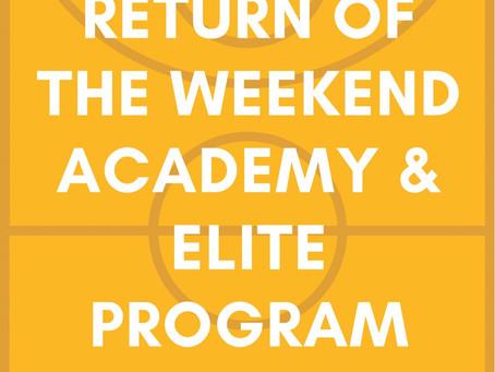 CU Weekend Programs - Update