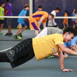 Kids training at Top Flight Basketball camp in Bangkok