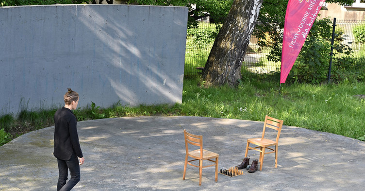 """""""The way we walk"""", action, 5th of June, X Performance Art Festival in Tychy, Poland.  Photo @Tomasz Gonsior"""