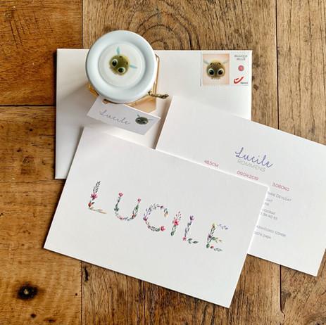 Geboortekaartje Lucile