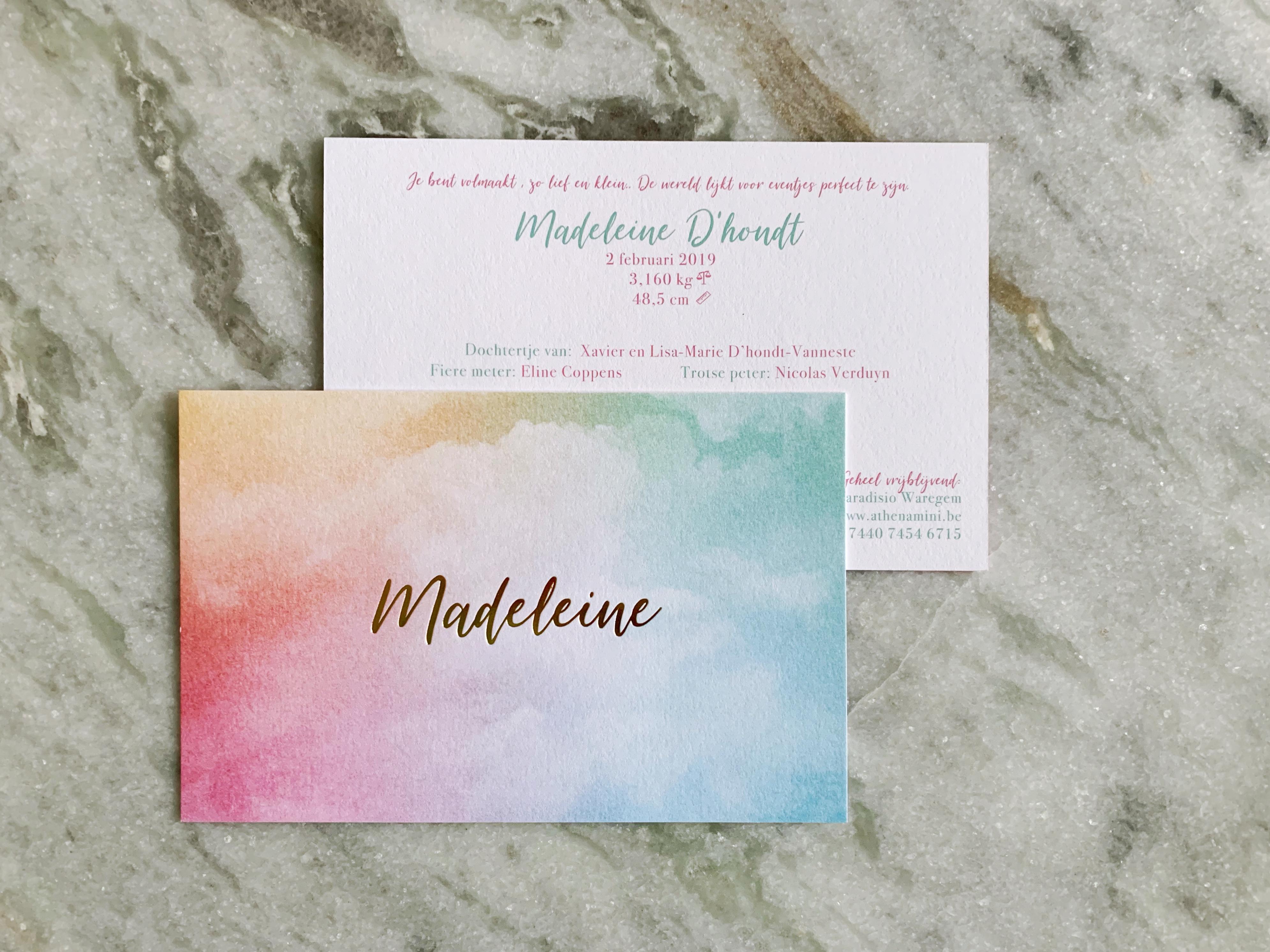 Geboortekaartje Madeleine