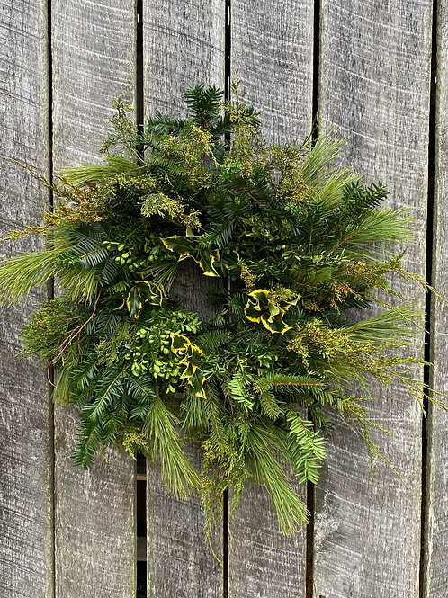 Small Lush Christmas Wreath