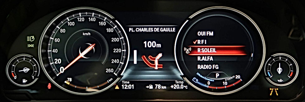 COMPTEUR DE VITESSE DIGITALE BMW | BLACK PANEL | GERMAN RETROFIT