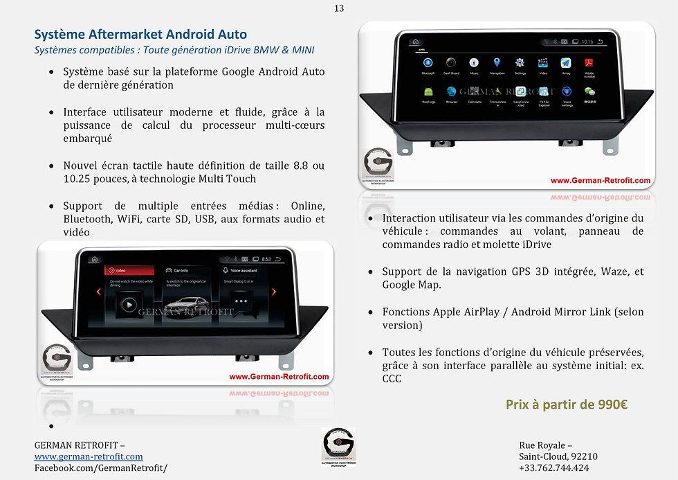 ECRAN TACTILE ANDROID AUTO BMW | WAZE - GOOGLE MAPS | GERMAN RETROFIT