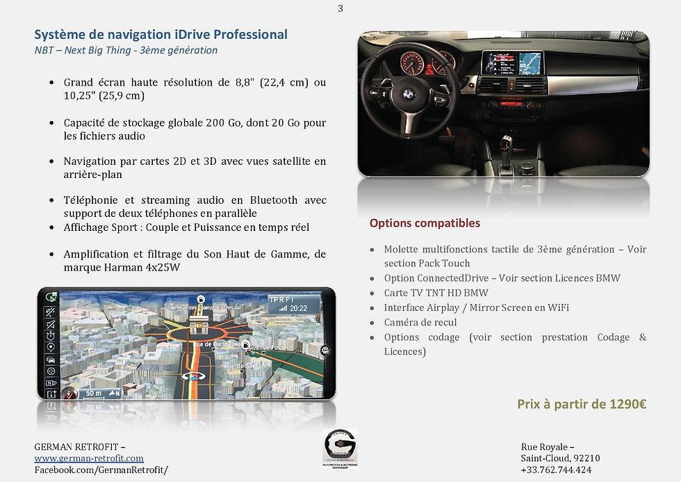 SYSTEME DE NAVIGATION GPS PROFESSONAL BMW NBT | GERMAN RETROFIT