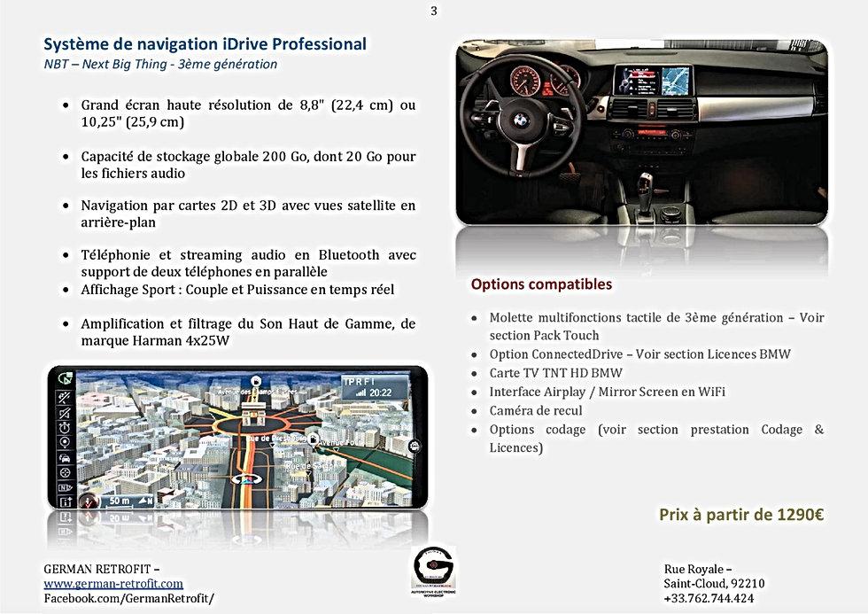 SYSTEME DE NAVIGATION GPS PROFESSONAL BMW NBT   GERMAN RETROFIT