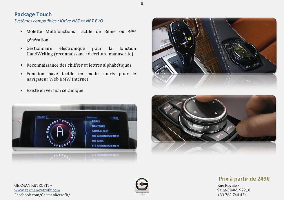 MOLETTE TACTILE BMW IDRIVE PRFESSIONAL   GERMAN RETROFIT