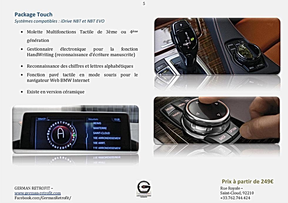 MOLETTE TACTILE BMW IDRIVE PRFESSIONAL | GERMAN RETROFIT