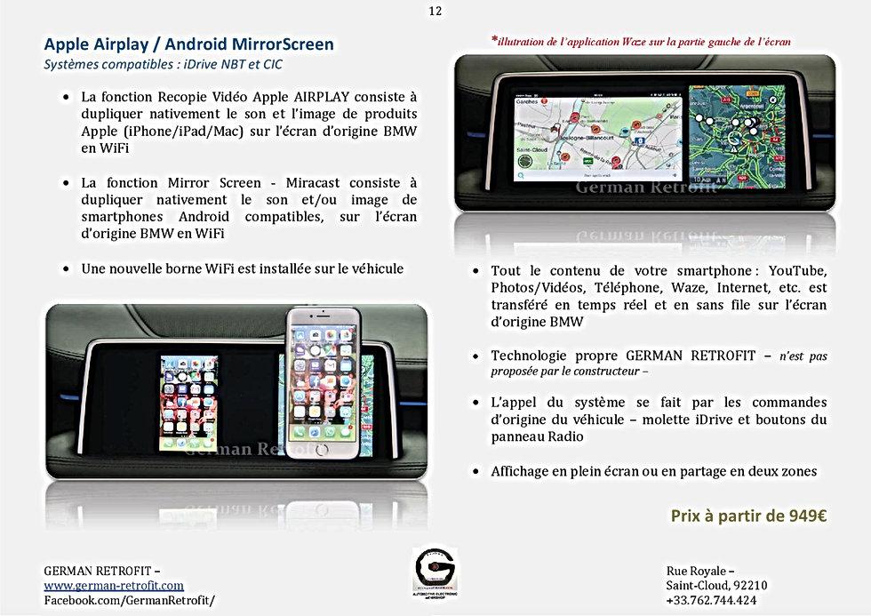 Apple Airplay / Mirror Screen Miracast sur GPS BMW