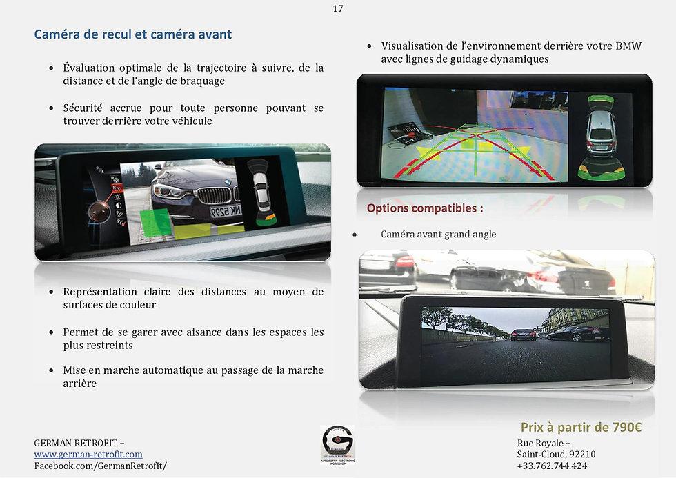 CAMERA DE RECUL BMW | CAMERA SIDE VIEW 360° | RETROFIT BMW