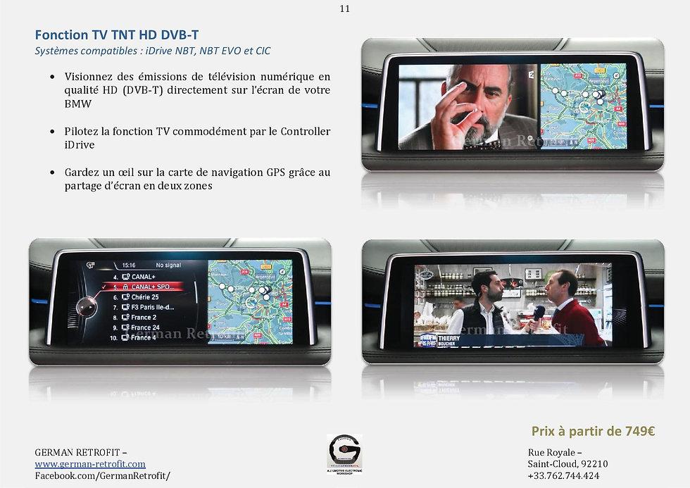 TELEVISION TNT HD ORIGINE BMW TV IDRIVE PROFESSIONAL | GERMAN RETROFIT