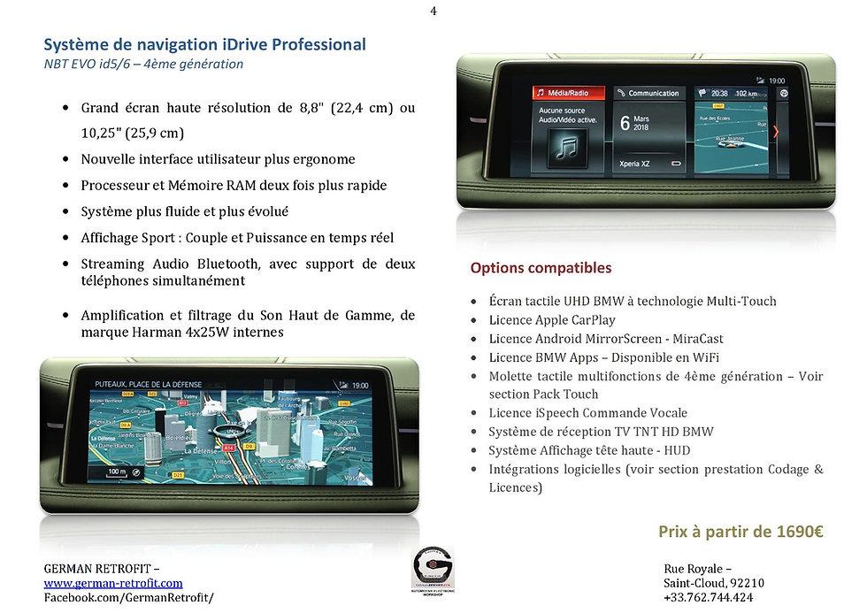 SYSTEME DE NAVIGATION GPS PROFESSONAL BMW NBT EVO | GERMAN RETROFIT