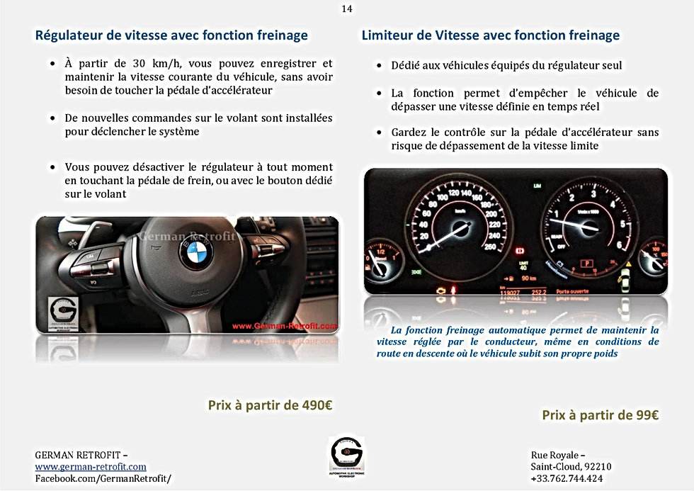 REGULATEUR / LIMITEUR DE VITESSE BMW | RETROFIT GERMAN RETROFIT