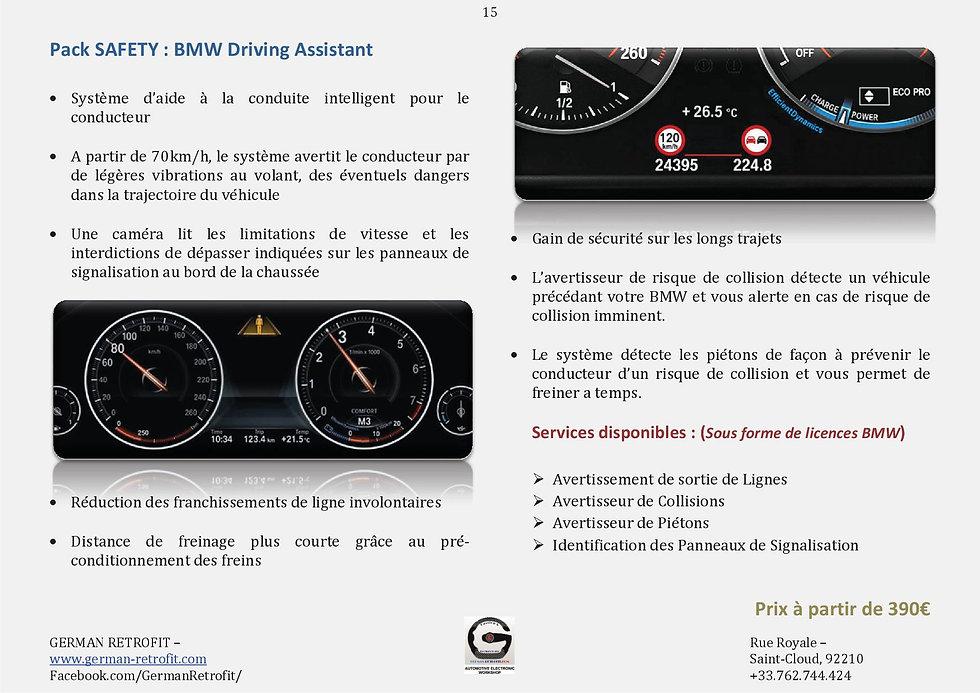 ASSISTANT CONDUITE BMW | AVERTISSEUR COLLISION | GERMAN RETROFIT