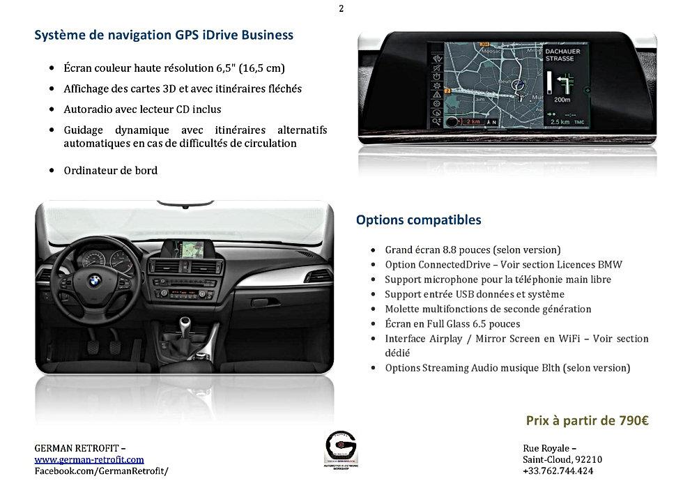 GPS IDRIVE BUSINESS BMW | POST-EQUIPEMENT GERMAN RETROFIT