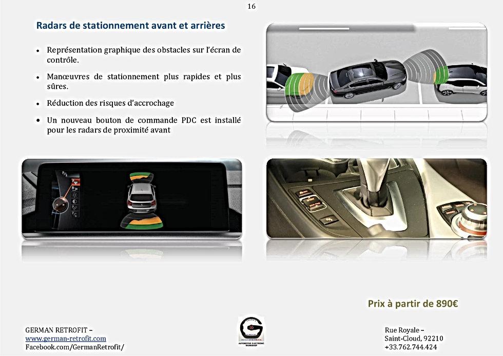 RADARS DE PROXIMITE AVANT ARRIERE BMW   PDC BMW   GERMAN RETROFIT