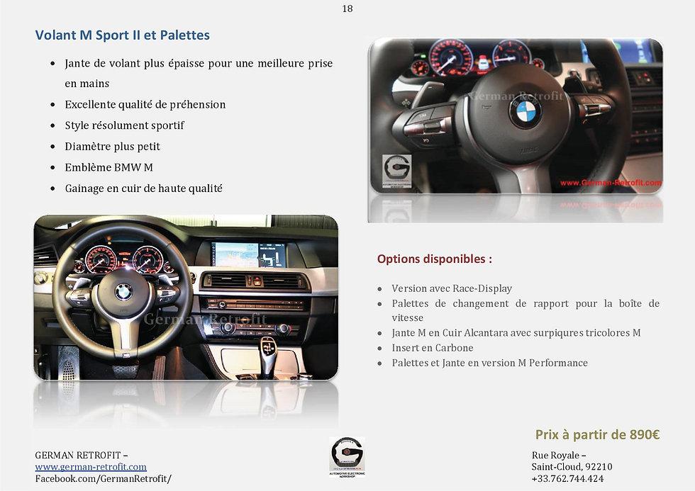 VOLANTS CUIR M SPORT PALETTES BMW | GERMAN RETROFIT