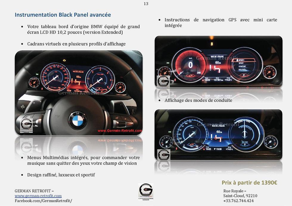 INSTRUMENTATIONS BMW   COMPTEUR LCD BLACK PANEL   GERMAN RETROFIT