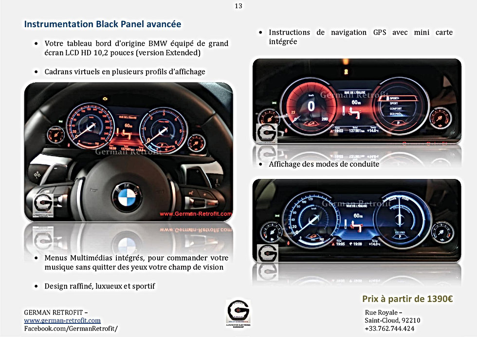 INSTRUMENTATIONS BMW | COMPTEUR LCD BLACK PANEL | GERMAN RETROFIT