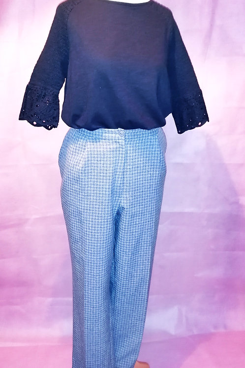 Size 18 Blue Checked Trousers