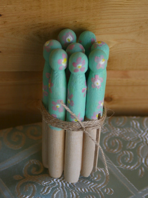 Hand Painted Pegs (Bundle of 8)