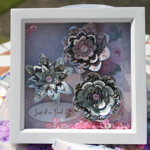 Handmade 3D floral picture