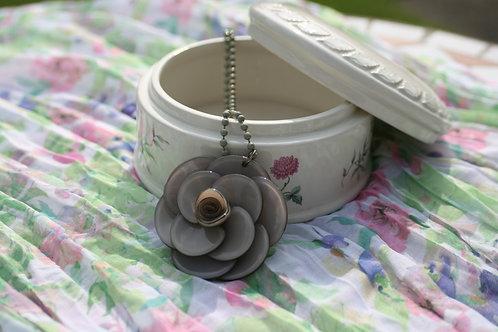 Grey Floral Necklace
