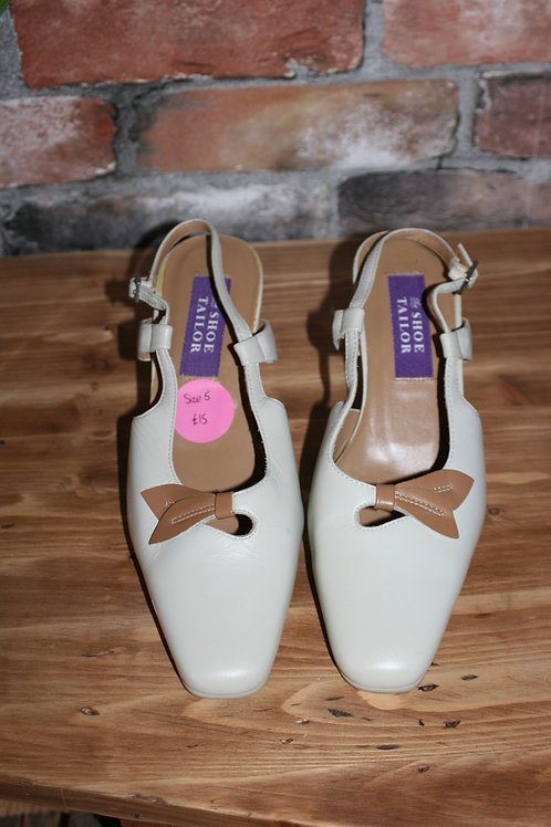 Vintage Cream and Beige Shoes