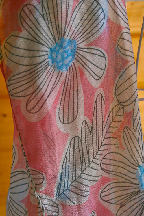 Pink and Blue Floral scarf (BNWT)