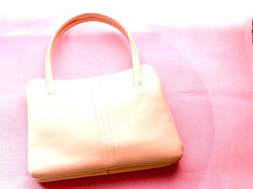 Vintage Cream Leather Handbag