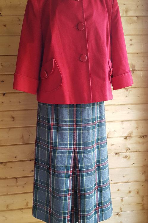 Size 12 Vintage Tartan Skirt
