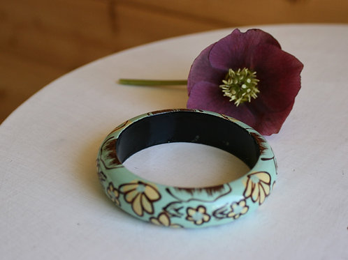 Vintage wooden Hand-painted Bangle