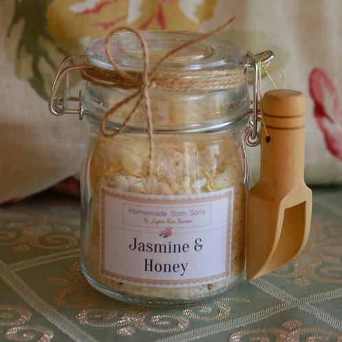 Homemade Jasmine & Honey Bath Salts
