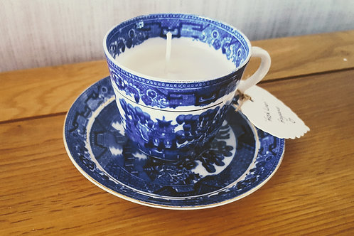 Teacup Candle: Fresh Linen Fragrance