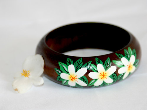 Vintage Hand-painted Wooden Bangle